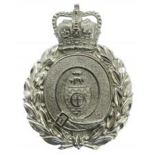 Dewsbury Borough Police Wreath Helmet Plate - Queen's Crown