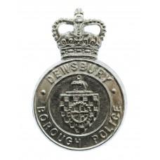 Dewsbury Borough Police Cap Badge - Queen's Crown