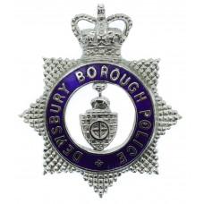 Dewsbury Borough Police Senior Officer's Enamelled Cap Badge - Qu