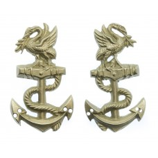 Pair of Liverpool (Mersey) River Police Collar Badges