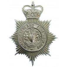 Northumberland Constabulary Helmet Plate - Queen's Crown