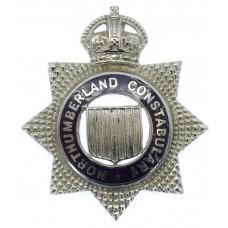 Northumberland Constabulary Senior Officer's Enamelled Cap Badge - King's Crown