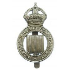Northumberland Constabulary Cap Badge - King's Crown