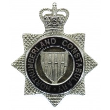 Northumberland Constabulary Senior Officer's Enamelled Cap Badge - Queen's Crown