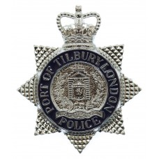 Port of Tilbury London Police Enamelled Cap Badge (c.1992-1995)