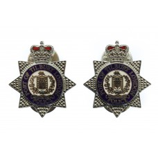 Pair of Port of Tilbury London Police Collar Badges - Queen's Crown