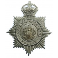 Ashton -under-Lyne Police Helmet Plate - King's Crown