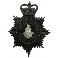 Huntingdonshire County Constabulary Night Helmet Plate - Queen's Crown