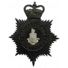Huntingdonshire County Constabulary Night Helmet Plate - Queen's