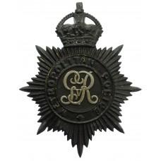 George V Metropolitan Police Night Helmet Plate