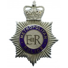 Metropolitan Police Enamelled Helmet Plate - Queen's Crown