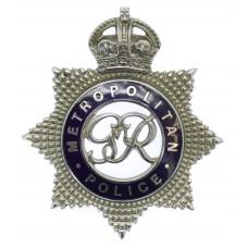 George VI Metropolitan Police Senior Officer's Enamelled Cap Badg