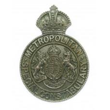 Metropolitan Special Constabulary Chrome Cap Badge - King's Crown