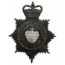 Isle of Ely Constabulary Helmet Plate - Queen's Crown