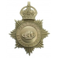 Penzance Borough Police Helmet Plate - King's Crown