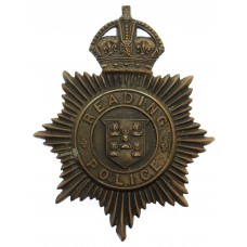 Reading Borough Police Night Helmet Plate - King's Crown
