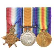 WW1 1914-15 Star Medal Trio - Pte. C. Wilson, 5th Bn. King's Own