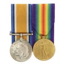WW1 British War & Victory Medal Pair - Sgt. F. Senior, 2nd/5t