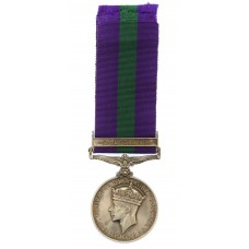 General Service Medal (Clasp - Palestine) - B. Const. G.H. Champlin. Palestine Police