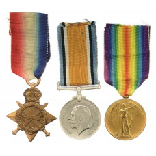 WW1 1914-15 Star Medal Trio - Pte. C.W. Lindsell, 6th Dragoon Guards