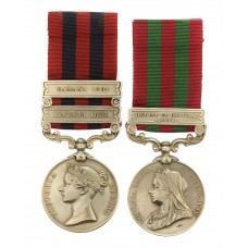 1854 India General Service (2 Clasps - Hazara 1891, Samana 1891) & 1895 India General Service (1 Clasp - Relief of Chitral 1895) Medal Pair - Pte. G. Bickwell, 1st Bn. King's Royal Rifle Corps