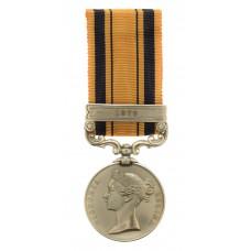South Africa 1877-79 (Zulu War) Medal (Clasp - 1879) - Pte. F. Mu