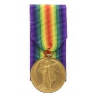 WW1 Victory Medal - Pte. J.C. Walker, King's Own Yorkshire Light Infantry