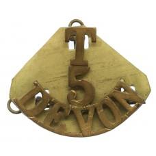 5th Territorial Bn. Devonshire Regiment (T/5/DEVON) Shoulder Titl