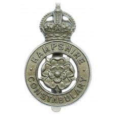 Hampshire Constabulary Cap Badge - King's Crown