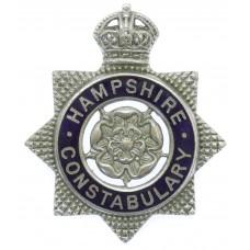 Hampshire Constabulary Senior Officer's Enamelled Cap Badge - Kin