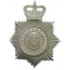 Southampton Police Helmet Plate - Queen's Crown