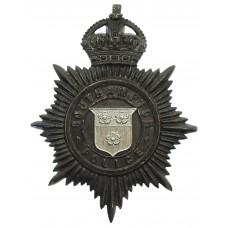 Southampton Police Night Helmet Plate - King's Crown