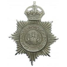 Cambridge Borough Police Helmet Plate - King's Crown