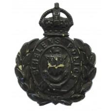 St Helen's Police Night Helmet Plate - King's Crown