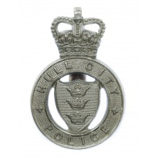 Hull City Police Cap Badge - Queen's Crown