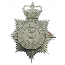 Hull City Police Helmet Plate - Queen's Crown