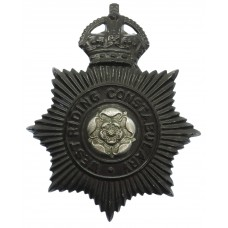 West Riding Constabulary Night Helmet Plate - King's Crown