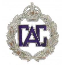 WW2 Civil Air Guard Enamelled Cap Badge