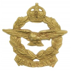 South African Air Force (S.A.A.F.) Cast Cap Badge - King's Crown
