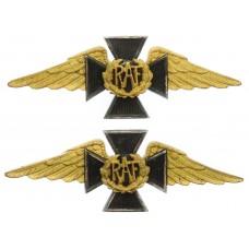 Pair of Royal Air Force (R.A.F.) Chaplains Gilt Collar Badges