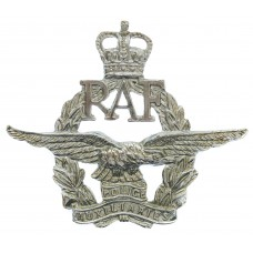 Royal Air Force (R.A.F.) Police Auxiliaries Cap Badge - Queen's Crown