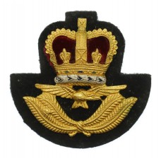 Royal Air Force (R.A.F.) Warrant Officer's Beret Badge - Queen's Crown