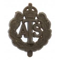Auxiliary Territorial Service (A.T.S.) Plastic Economy Cap Badge