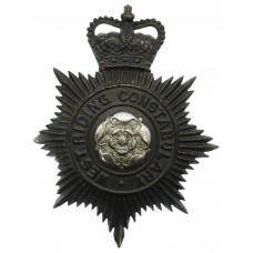 West Riding Constabulary Night Helmet Plate - Queen's Crown