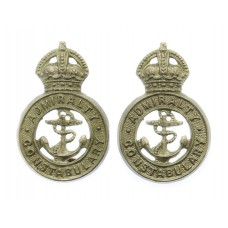 Pair of Admiralty Constabulary Collar Badges - King's Crown