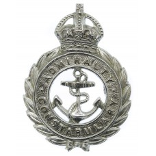 Admiralty Constabulary Chrome Cap Badge - King's Crown