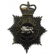 Surrey Constabulary Night Helmet Plate - Queen's Crown