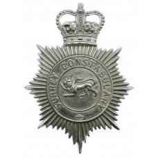 Surrey Constabulary Helmet Plate - Queen's Crown