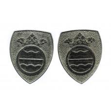 Pair of Cambridgeshire Constabulary Collar Badges