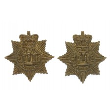 Pair of Victorian Devonshire Regiment Collar Badges